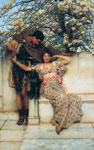 Alma-Tadema,Sir Lawrence Promise of Spring, 1890 Art Reproductions