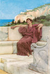 Alma-Tadema,Sir Lawrence A Female Figure Resting Art Reproductions