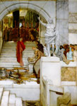 Alma-Tadema,Sir Lawrence After the Audience, 1879 Art Reproductions