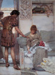 Alma-Tadema,Sir Lawrence A Silent Greeting, 1889 Art Reproductions