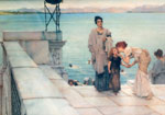 Alma-Tadema,Sir Lawrence A Kiss, 1891 Art Reproductions