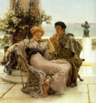 Alma-Tadema,Sir Lawrence Courtship - the Proposal, 1892 Art Reproductions