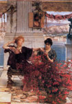 Alma-Tadema,Sir Lawrence Love's Jewelled Fetter, 1895 Art Reproductions