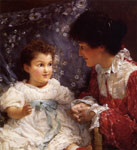 Alma-Tadema,Sir Lawrence Mrs George Lewis and Her Daughter Elizabeth, 1899 Art Reproductions