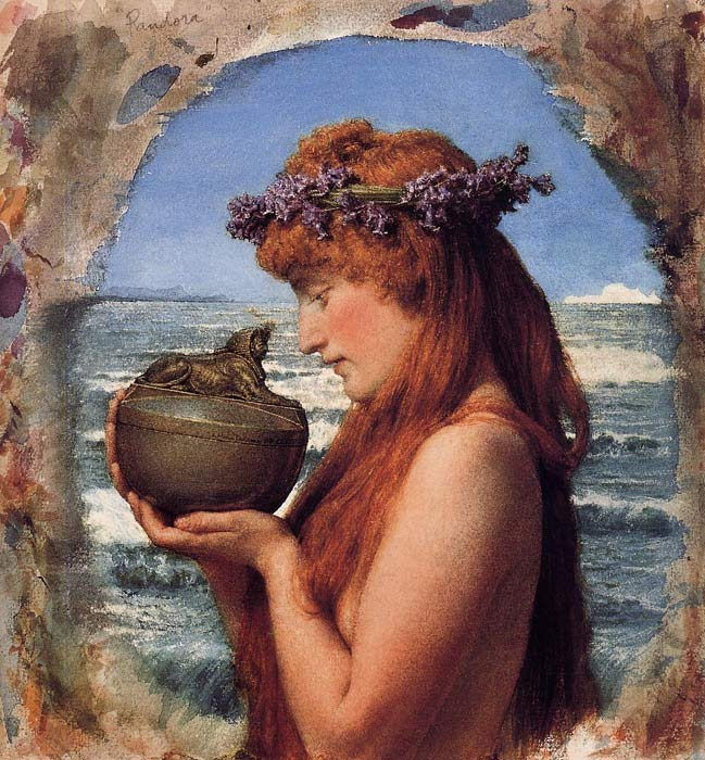 Pandora, 1881  Painting Reproductions