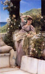 Alma-Tadema,Sir Lawrence Thou Rose of all the Roses, 1883 Art Reproductions
