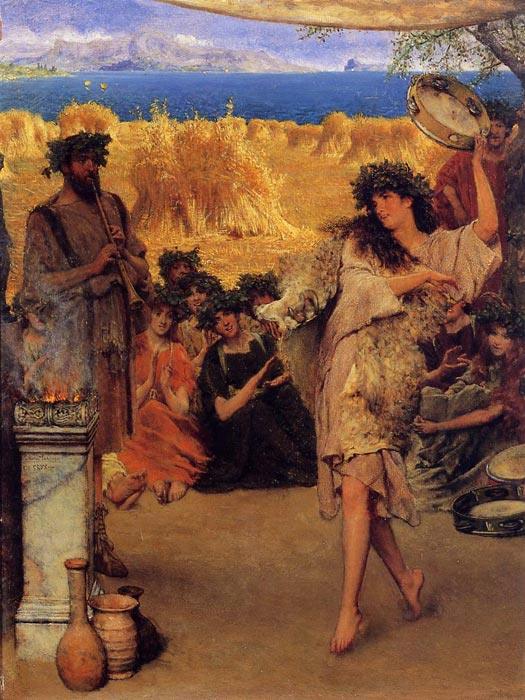 A Harvest Festival, 1880  Painting Reproductions
