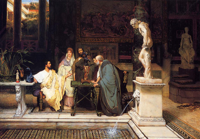 A Roman Art Lover, 1868 Alma-Tadema,Sir Lawrence Painting Reproductions