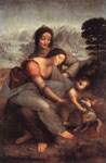 Leonardo da Vinci The Virgin and Child with St Anne, c.1510 Art Reproductions