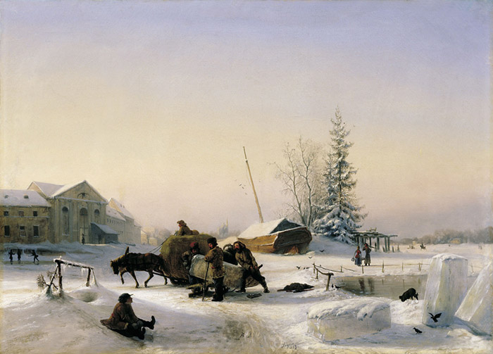 Ice Scating, 1849  Painting Reproductions