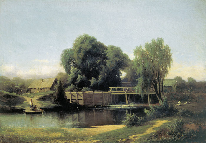 Landscape with a Mill, 1864  Painting Reproductions