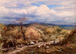 An Autumn Afternoon With Shepherd And Flock , 1873 Art Reproductions