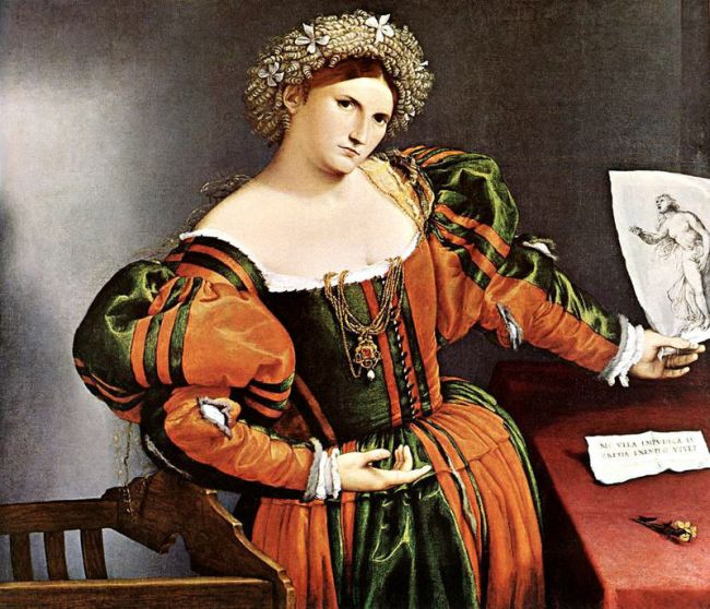 Portrait of a Lady Dressed as Lucretia,1533  Painting Reproductions