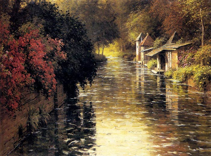 A French River Landscape  Painting Reproductions