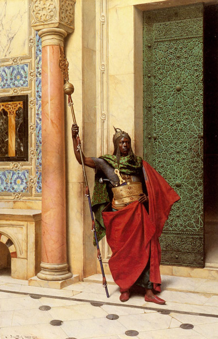 A Nubian Guard, 1895  Painting Reproductions