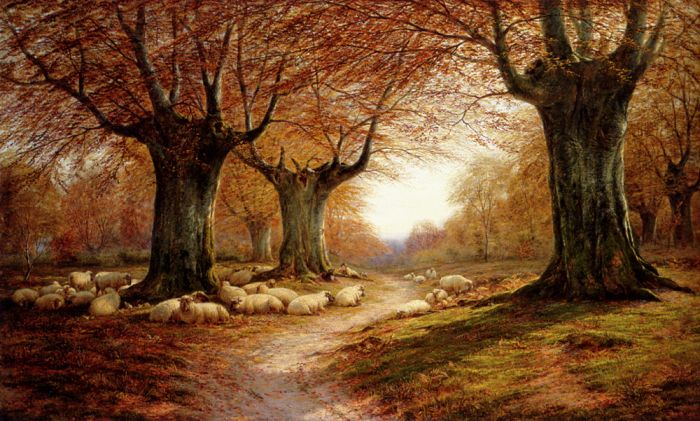 An Autumnal Landscape, 1874  Painting Reproductions