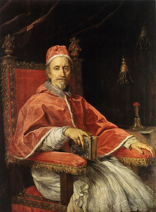 Portrait Of Pope Clement IX, 1669  Painting Reproductions