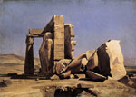Gleyre, Marc- Gabriel- Charles Egyptian Temple, 1840 Art Reproductions