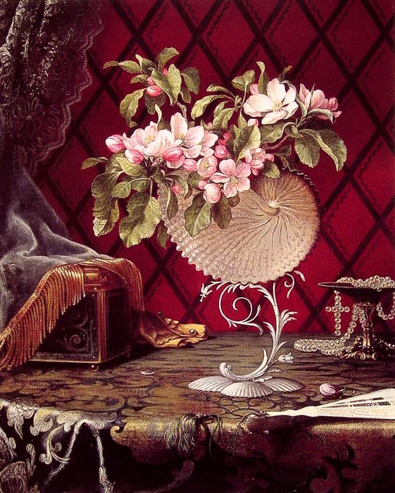 Still Life with Apple Blossoms in a Nautilus Shell, 1870  Painting Reproductions