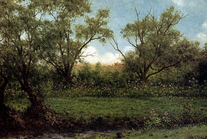 Brookside (Asters In A Field), c.1874-1875  Painting Reproductions