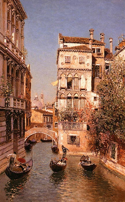 Along The Canal, Venice  Painting Reproductions