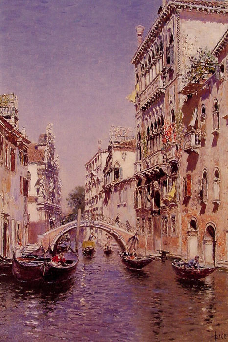 The Sunny Canal  Painting Reproductions