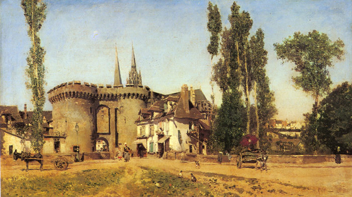 The Village of Chartres  Painting Reproductions