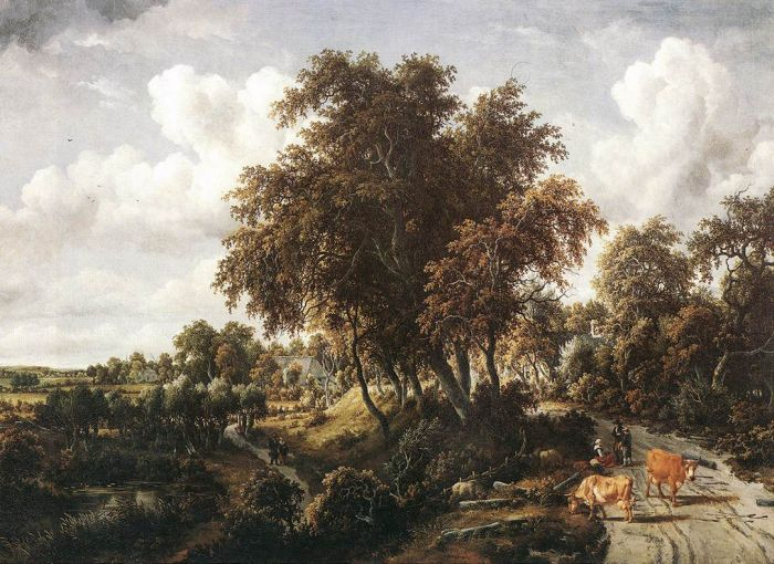 Road on a Dyke, 1663  Painting Reproductions