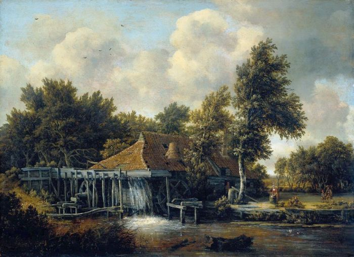 A Water Mill, 1665  Painting Reproductions