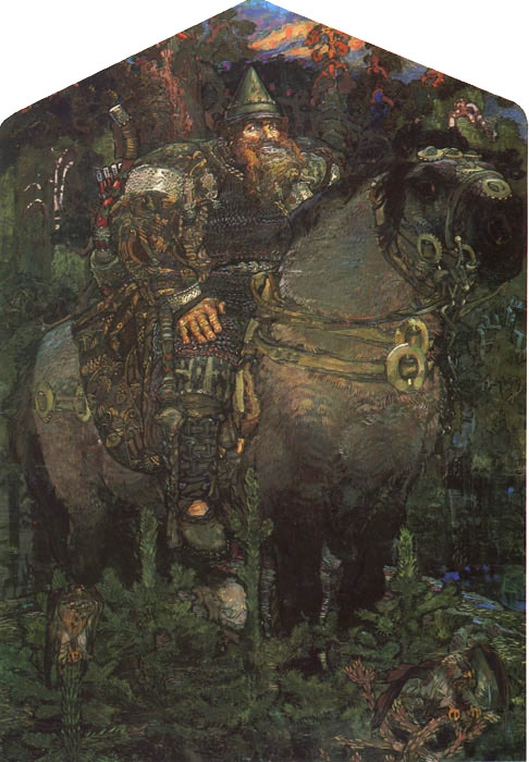 The Bogatyr (Hero), 1898  Painting Reproductions