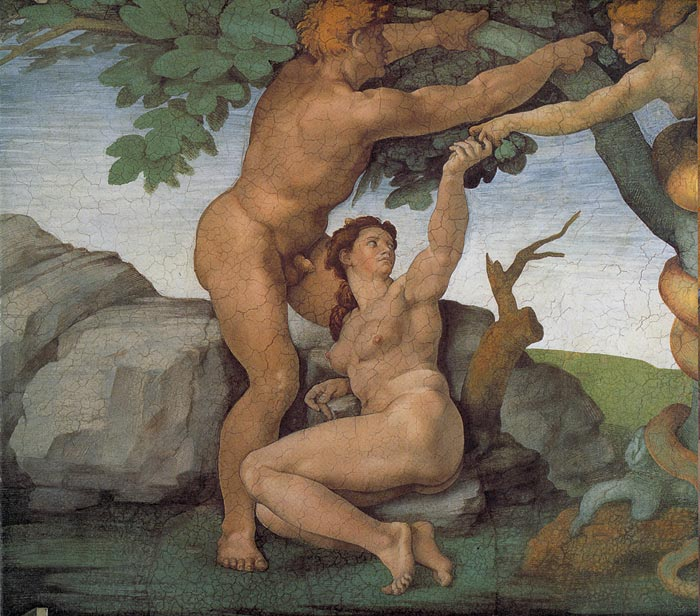 The Original Sin, 1508-1512  Painting Reproductions