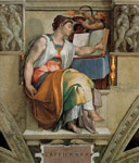 Michelangelo, Buonarroti Ceiling of the Sistine Chapel: Sybils: Erithraea, 1508-1512 Art Reproductions