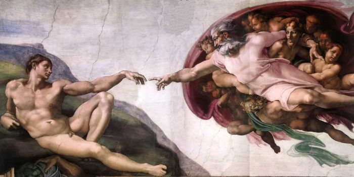 The Creation of Adam, Circa 1511( Before Restoration)  Painting Reproductions