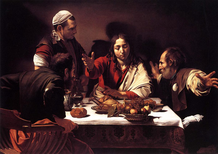Supper at Emmaus, 1601-1602  Painting Reproductions