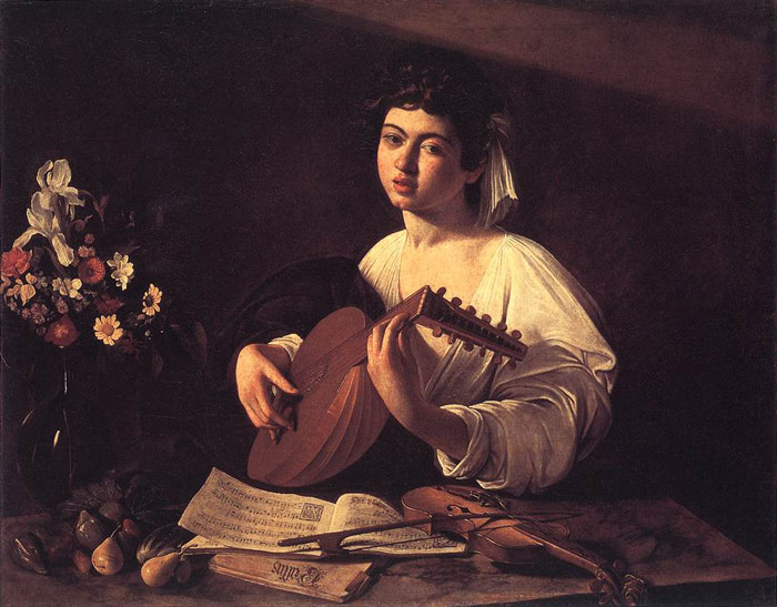 Lute Player, c.1596 Caravaggio, Michelangelo Merisi da Painting Reproductions