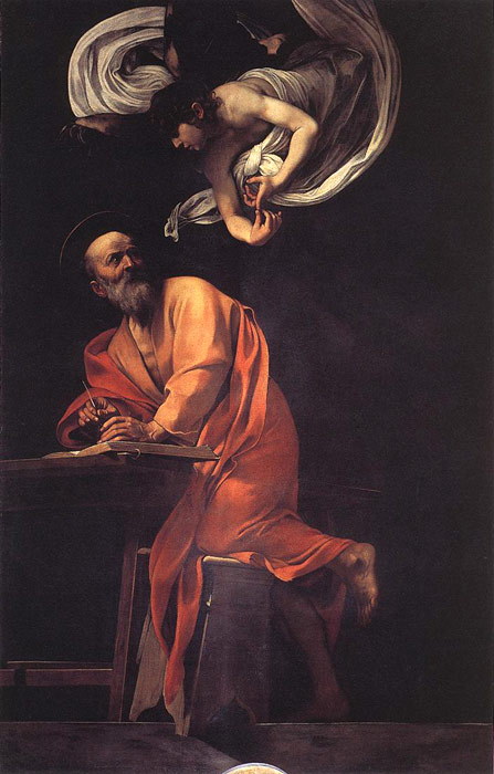 The Inspiration of Saint Matthew, 1602  Painting Reproductions