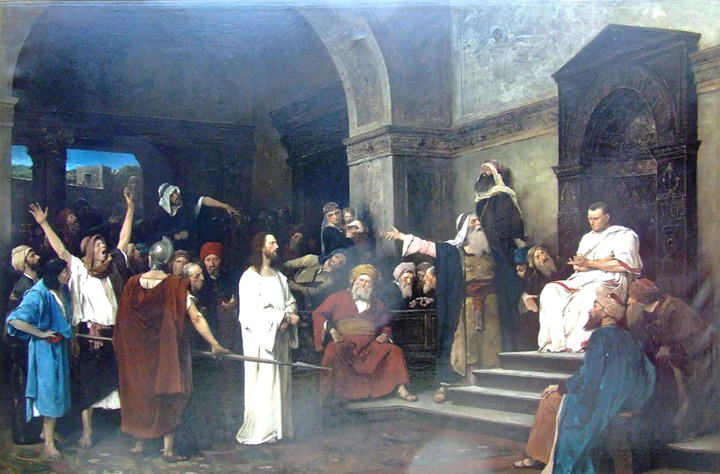 Christ in front of Pilate, 1881  Painting Reproductions