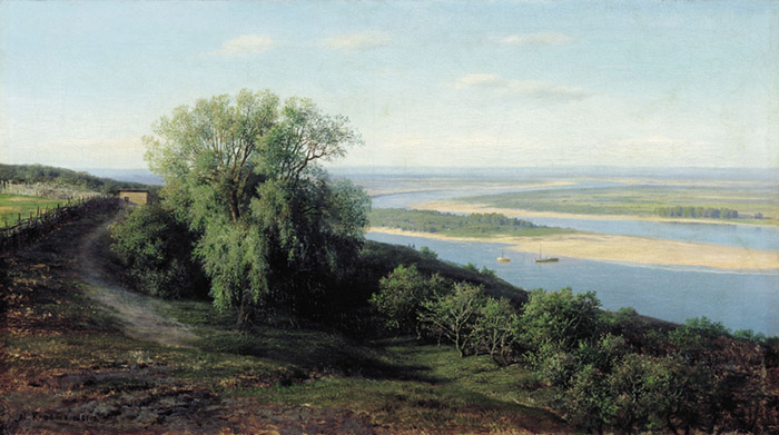 Volga Near Sibir, 1881  Painting Reproductions
