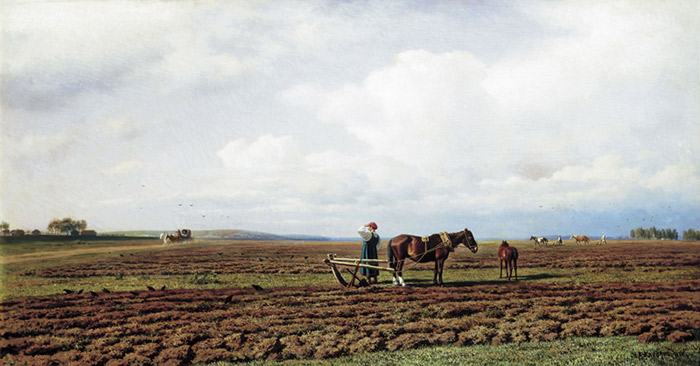 Ploughing, 1872  Painting Reproductions