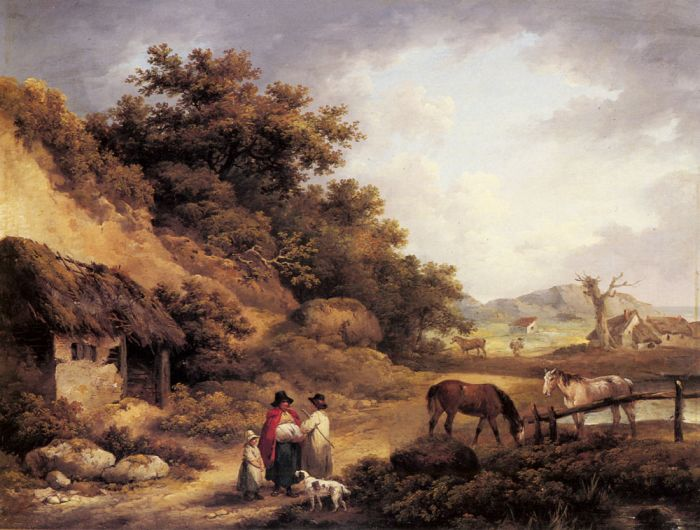 Wayside Gossips Morland, George Painting Reproductions
