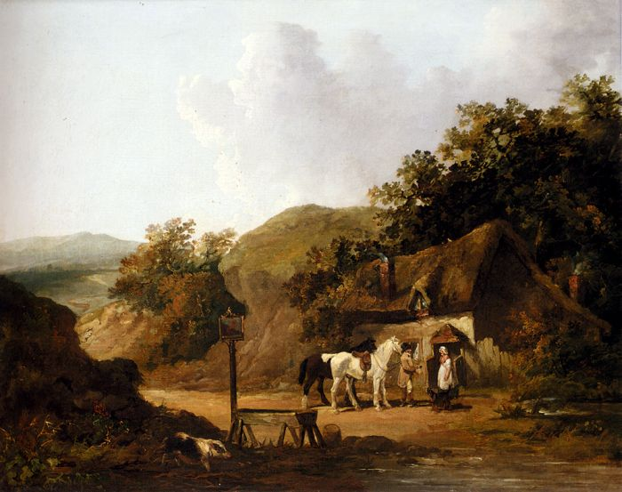 Taking Refreshments Outside A Village Inn Morland, George Painting Reproductions