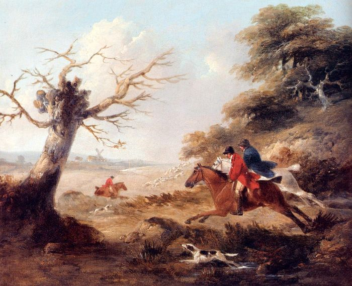 Full Cry Morland, George Painting Reproductions
