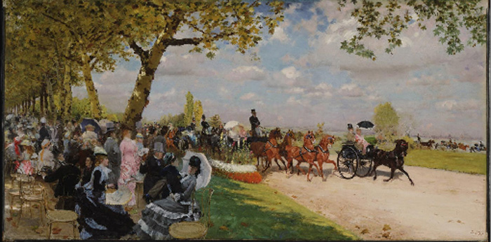 Return from the Races, 1875  Painting Reproductions
