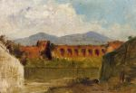 0 A Roman Aqueduct, 1874 Art Reproductions