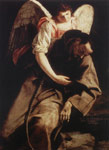3159 St Francis and the Angel, 1612-1613 Art Reproductions