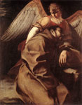 Gentileschi, Orazio St Francis Supported by an Angel, 1603 Art Reproductions