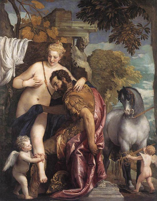 Mars and Venus United by Love, c.1570  Painting Reproductions