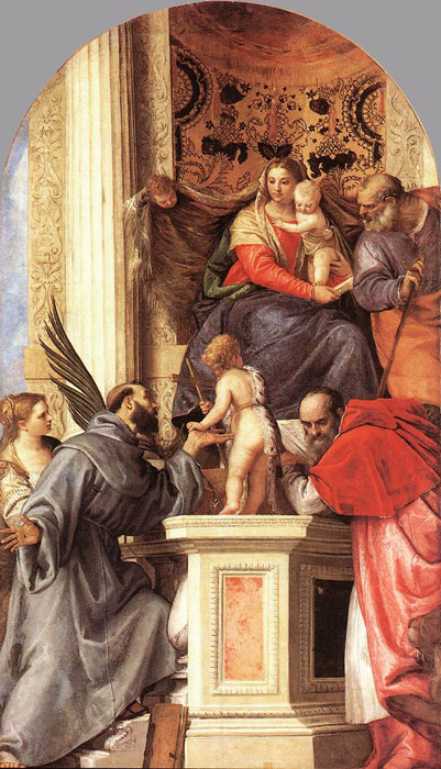 Madonna enthroned with saints, c.1562  Painting Reproductions
