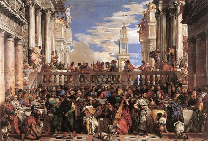 The Marriage at Cana, c.1563  Painting Reproductions