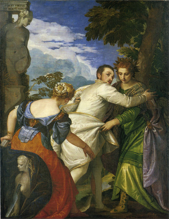 Allegory of Virtue and Vice, 1580  Painting Reproductions